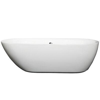 Melissa 70.75 x 32.5 Soaking Bathtub