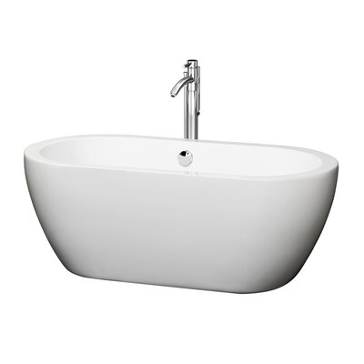Soho 60 x 29 Soaking Bathtub Finish: Chrome
