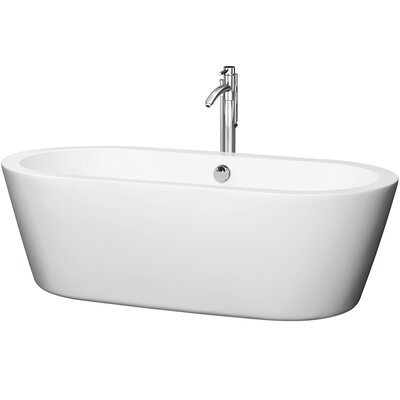 Mermaid 71 x 33.5 Soaking Bathtub Finish: Chrome