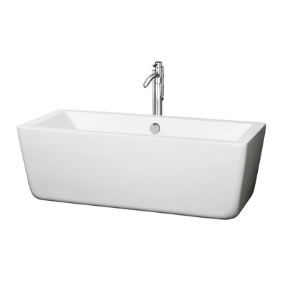 Laura 58.75 x 27.38 Soaking Bathtub Finish: Chrome