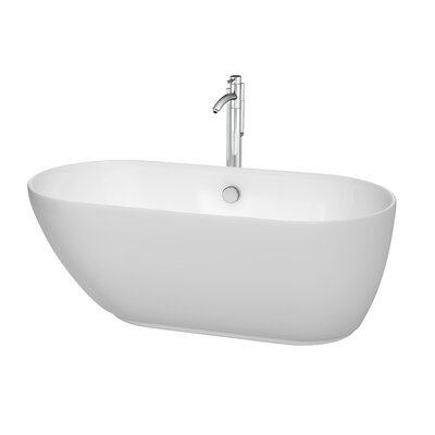 Melissa 60 H x 29 Soaking Bathtub Jet Finish: Polished Chrome