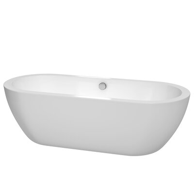 Soho Freestanding 72 H x 31 Soaking Bathtub Drain Finish: Polished Chrome