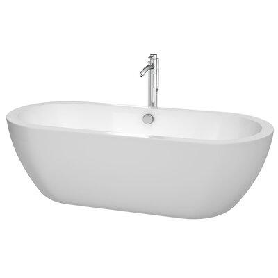 Soho 72 H x 31 Freestanding Soaking Bathtub Jet Finish: Polished Chrome
