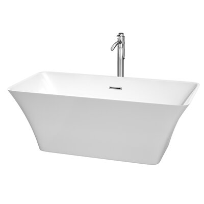 Tiffany 59 x 29.5 Soaking Bathtub