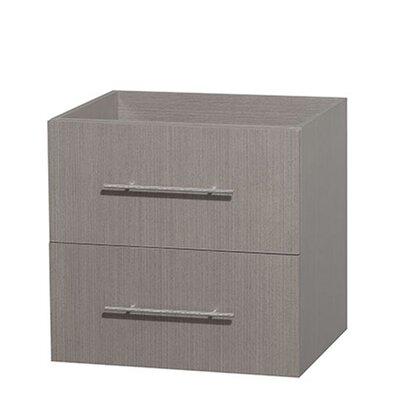 Centra 24 Single Bathroom Vanity Base Base Finish: Gray Oak