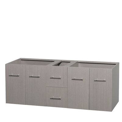 Centra 60 Double Bathroom Vanity Base Base Finish: Gray Oak