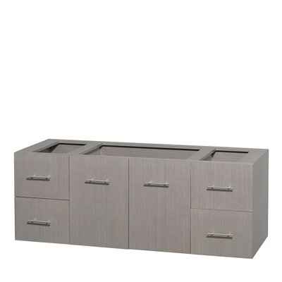 Centra 60 Single Bathroom Vanity Base Base Finish: Gray Oak