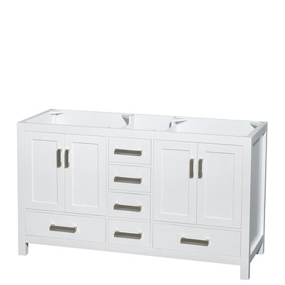 "Sheffield 60"" Double Bathroom Vanity Base Base Finish: White"