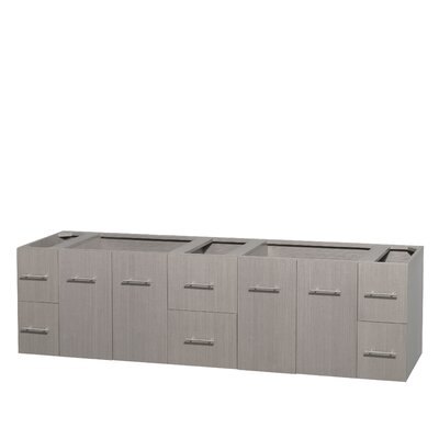 Centra 80 Double Bathroom Vanity Base Base Finish: Gray Oak