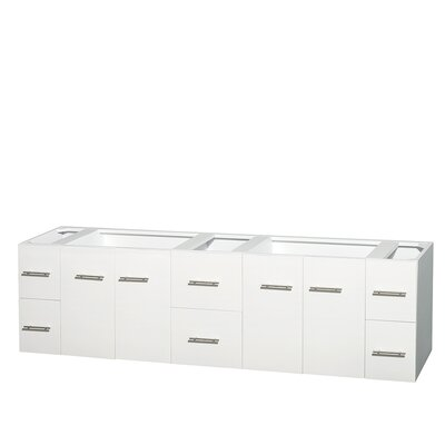 Centra 80 Double Bathroom Vanity Base Base Finish: Matte White