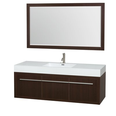 Axa 60 Single Espresso Bathroom Vanity Set with Mirror