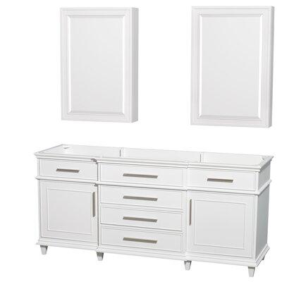 Berkeley 71 Double Bathroom Vanity Base Base Finish: White