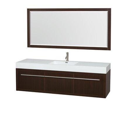 Axa 72 Single Espresso Bathroom Vanity Set with Mirror
