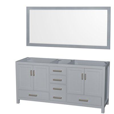 Sheffield 71 Double Bathroom Vanity Base Base Finish: Gray
