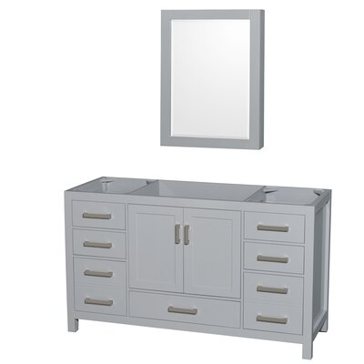 Sheffield 59 Single Bathroom Vanity Base Base Finish: Gray