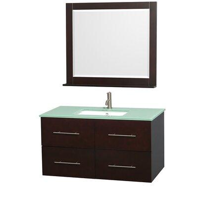 Centra 42 Single Espresso Bathroom Vanity Set with Mirror