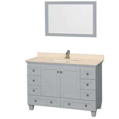 Acclaim 48 Single Bathroom Vanity Set with Mirror