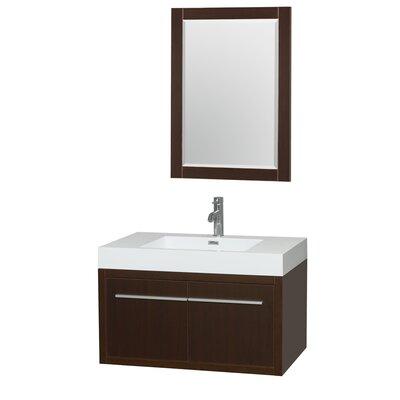 Axa 36 Single Espresso Bathroom Vanity Set with Mirror