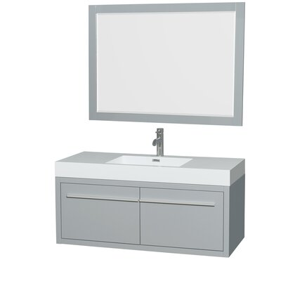 Axa 48 Single Dove Gray Bathroom Vanity Set with Mirror
