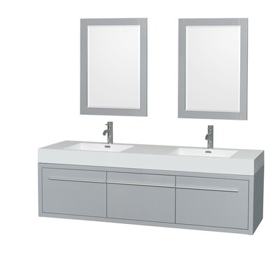 Axa 72 Double Bathroom Vanity Set with Mirror