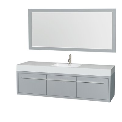 Axa 72 Single Bathroom Vanity Set with Mirror