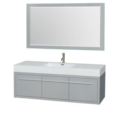 Axa 60 Single Bathroom Vanity Set with Mirror