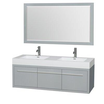 Axa 60 Double Bathroom Vanity Set with Mirror
