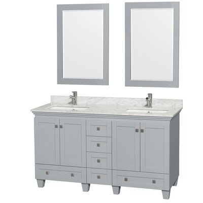 Acclaim 60 Double Bathroom Vanity Set with Mirrors
