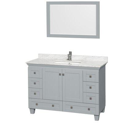 Acclaim 48 Single Bathroom Vanity Set with Mirror
