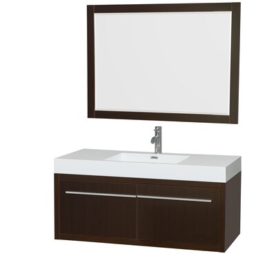Axa 48 Single Espresso Bathroom Vanity Set with Mirror