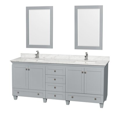 Acclaim 80 Double Bathroom Vanity Set with Mirror