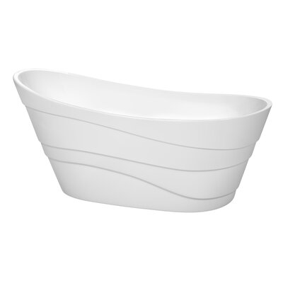Kari 67.25 x 29.25 Soaking Bathtub