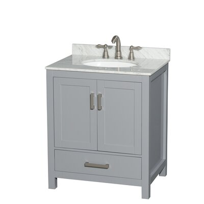 Sheffield 30 Single Bathroom Vanity Base Base Finish: Gray