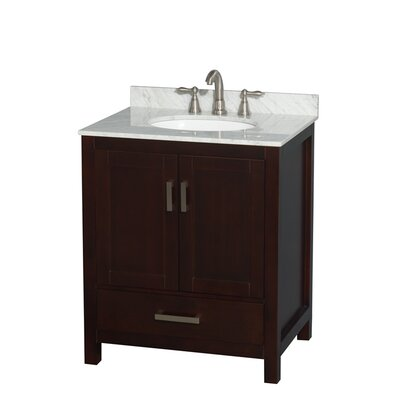 Sheffield 30 Single Bathroom Vanity Base Base Finish: Espresso
