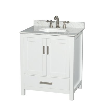 Sheffield 30 Single Bathroom Vanity Base Base Finish: White