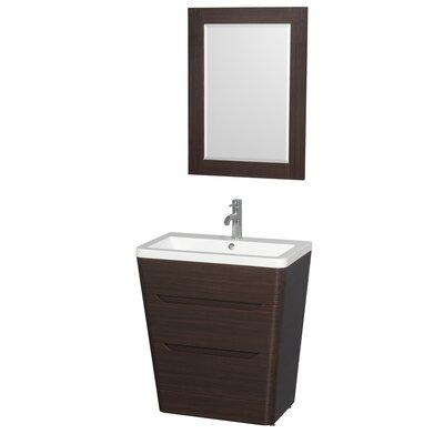Caprice 30 Single Espresso Bathroom Vanity Set with Mirror