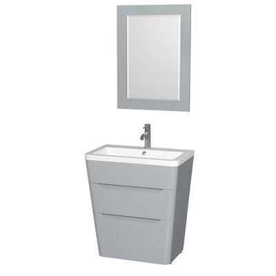 Caprice 30 Single Gray Bathroom Vanity Set with Mirror