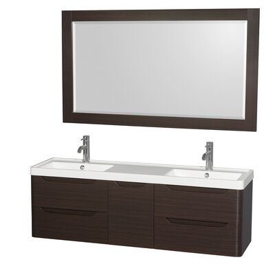 Murano 60 Double Bathroom Vanity with Mirror