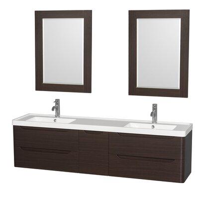 Murano 72 Double Bathroom Vanity with Mirror