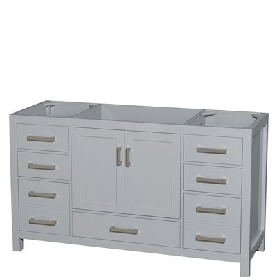 Sheffield 60 Single Bathroom Vanity Base Base Finish: Gray