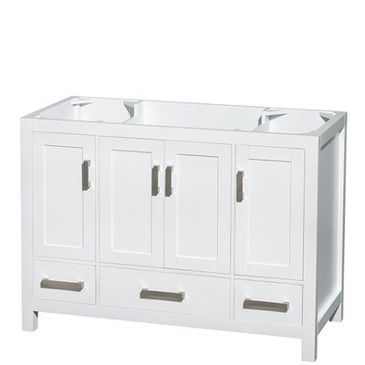 Sheffield 48 Single Bathroom Vanity Base Base Finish: White