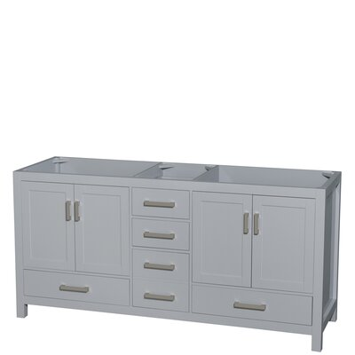 "Sheffield 72"" Double Bathroom Vanity Base Base Finish: Gray"