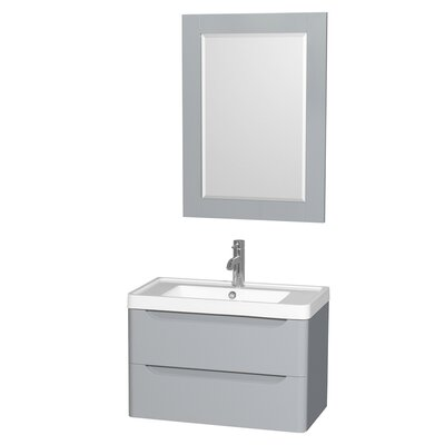 Murano 30 Single Gray Bathroom Vanity Set with Mirror