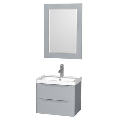 Murano 23.5 Single Gray Bathroom Vanity Set with Mirror
