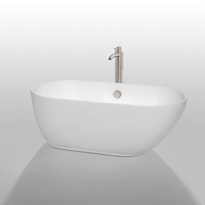 Melissa 60 x 29 Freestanding Bathtub Jet Finish: Brushed Nickel