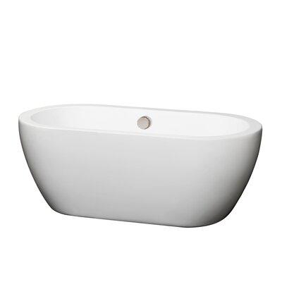 Soho 60 Soaking Bathtub Trim Finish: Brushed Nickel