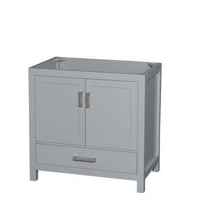 Sheffield 36 Single Bathroom Vanity Base Base Finish: Gray