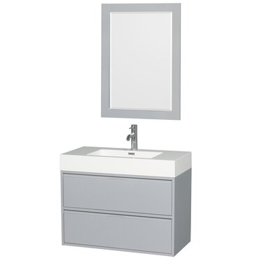 Daniella 35 Single Bathroom Vanity Set with Mirror Base Finish: Dove Gray