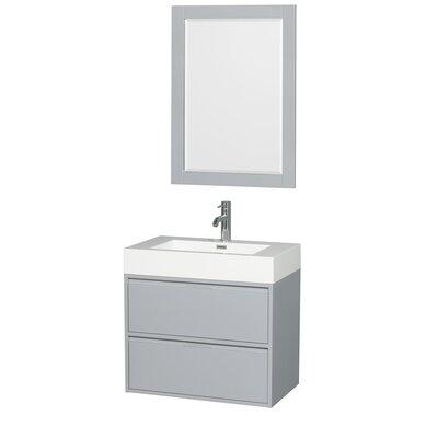 Daniella 29 Single Dove Gray Bathroom Vanity Set with Mirror