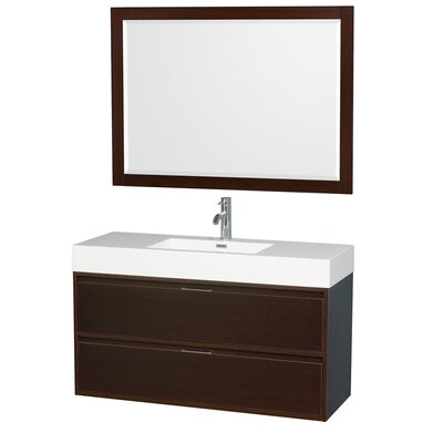 Daniella 47 Single Espresso Bathroom Vanity Set with Mirror